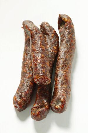 dry sausage: Four venison sausages