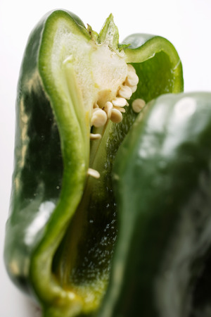 pimiento: Green pepper (Poblano from Mexico), halved
