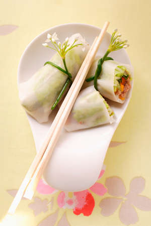 rice paper: Filled rice paper rolls from Vietnam LANG_EVOIMAGES