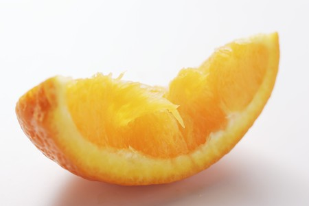 wedge: Squeezed wedge of orange