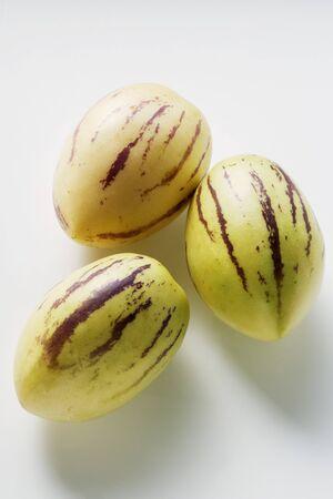 pepino: Three Pepino melons