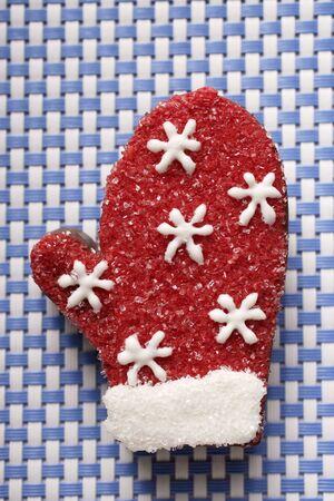 praline: Chocolade praline handschoen voor Kerstmis