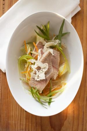 bullhead fish: Catfish in herb stock with horseradish LANG_EVOIMAGES