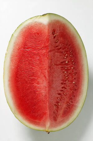 redness: Slice of watermelon from above