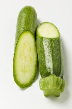courgette: Courgette, halved