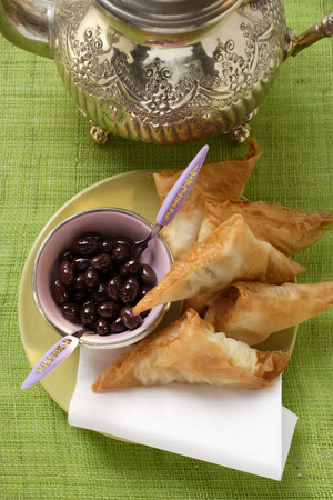 briks: Savoury pasties and black olives from the Middle East