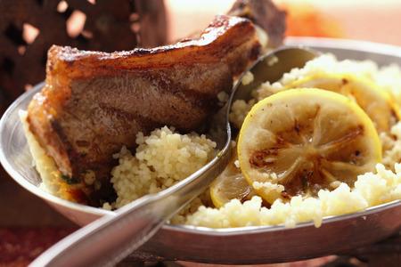 couscous: Lamb cutlets with couscous and lemon LANG_EVOIMAGES