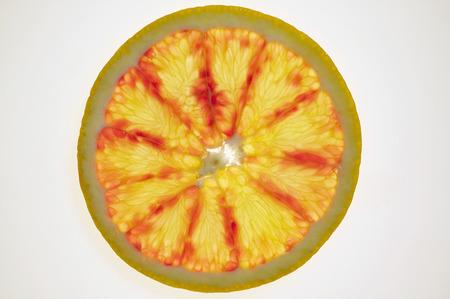 backlit: Slice of grapefruit, backlit