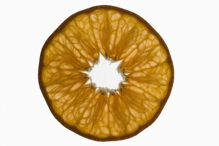 backlit: Slice van mandarijn, backlit LANG_EVOIMAGES