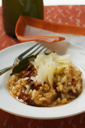 shavings: Risotto with Parmesan shavings