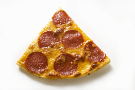 salame: Piece of salami and cheese pizza LANG_EVOIMAGES