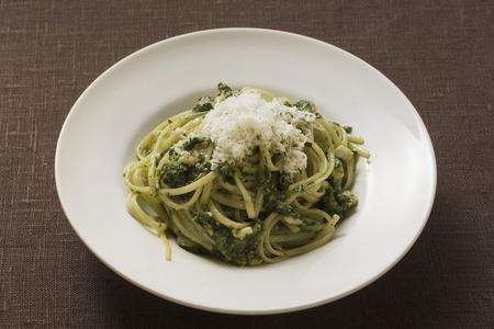 Parmesan: Linguine with pesto and Parmesan