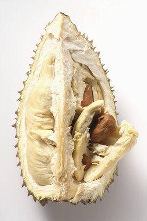 quartered: Durian (a quarter of a fruit) LANG_EVOIMAGES