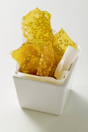 candied: Candied sesame seeds