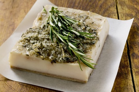 bacon fat: Bacon fat from Tuscany with rosemary