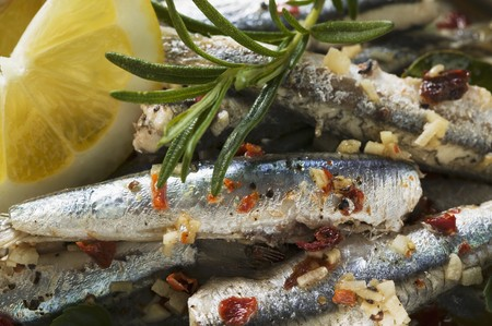 european anchovy: Alici al limone (Marinated anchovies, Calabria)