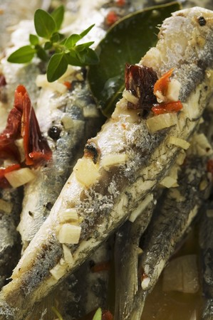 european anchovy: Fried anchovies with dried tomatoes (Calabria) LANG_EVOIMAGES