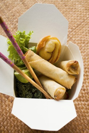tans: Deep-fried wontons and spring rolls to take away