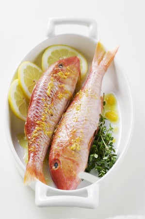 goatfish: Red mullet with lemon sauce and thyme LANG_EVOIMAGES