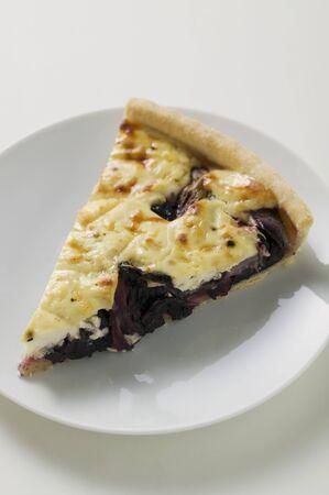 radicchio: Piece of radicchio tart (Veneto)