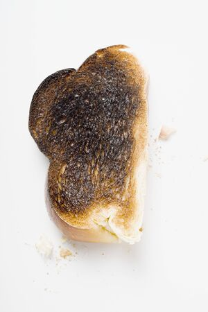 burnt toast: Slice of burnt toast
