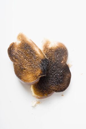 burnt toast: Slices of burnt toast