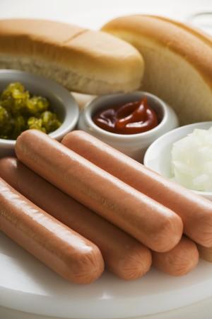 wienie: Ingredients for hot dogs