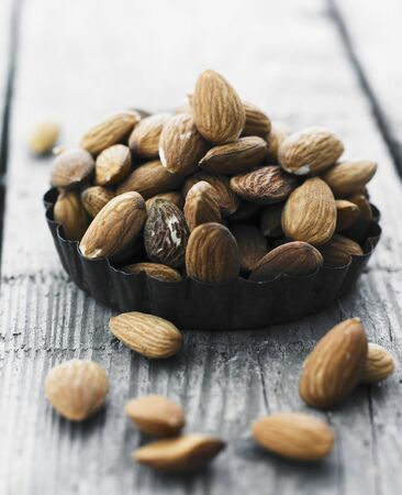 brownness: Brown almonds