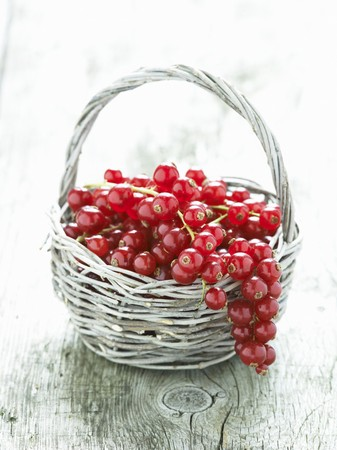 redness: Redcurrants in a basket