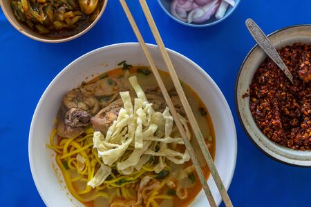 soi: Khao soi (noodle soup with chicken, Thailand) LANG_EVOIMAGES