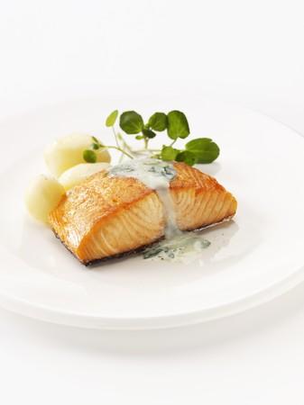 salmon steak: Smoked salmon steak