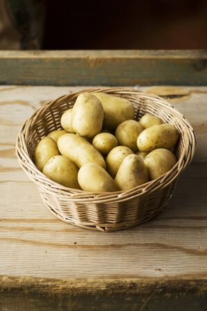 tuberous: A basket of fresh Amandine potatoes