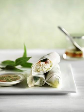 rice paper: Rice paper rolls, Vietnam
