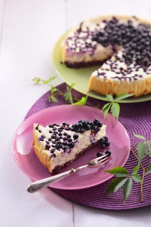 wildberry: Cheesecake with blueberries and white chocolate