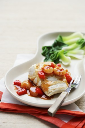 fish fillet: Fish fillet with sweet-and-sour sauce