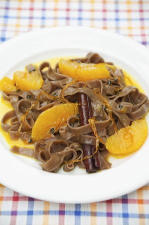cinammon: Chocolate pasta in orange sauce LANG_EVOIMAGES