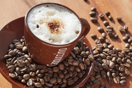 coffeebeans: A cappuccino with milk foam