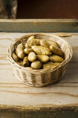 A basket of Mandel potatoes Stock Photo - 36548372