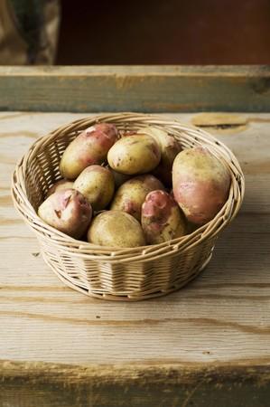 king edward: A basket of King Edward VII potatoes