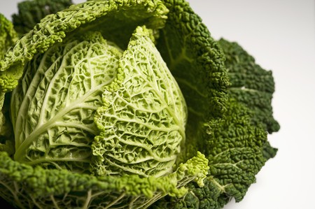 noone: Savoy cabbage on a white surface