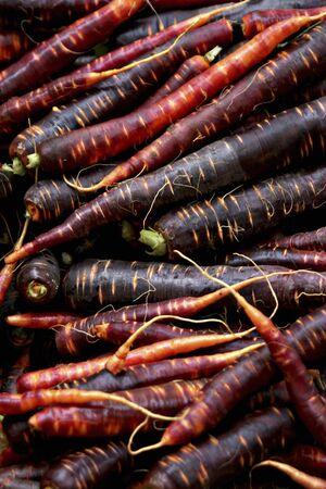 primaeval: Primaeval carrots at a market
