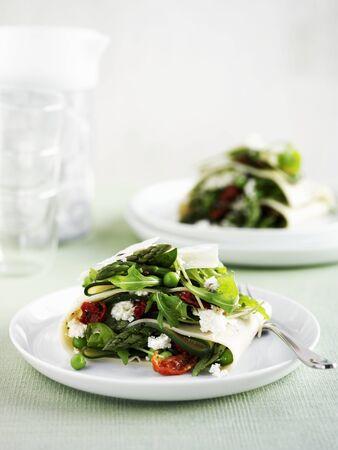 arugola: Vegetable lasagne