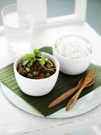 beef curry: Beef curry with rice, India LANG_EVOIMAGES