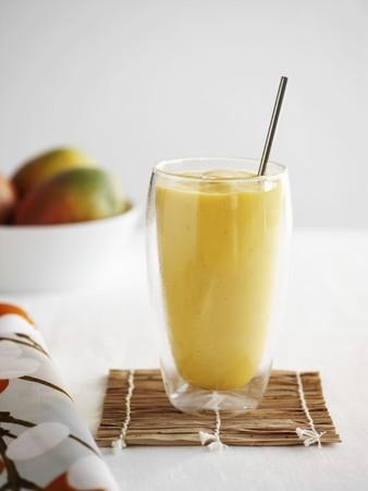 non alcoholic: A mango smoothie
