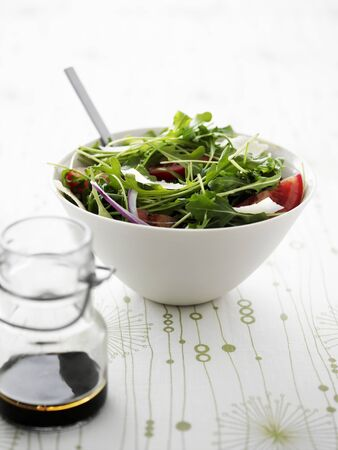 arugola: Rocket salad with a balsamic dressing