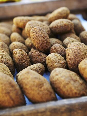 sold small: Falafel at a market LANG_EVOIMAGES
