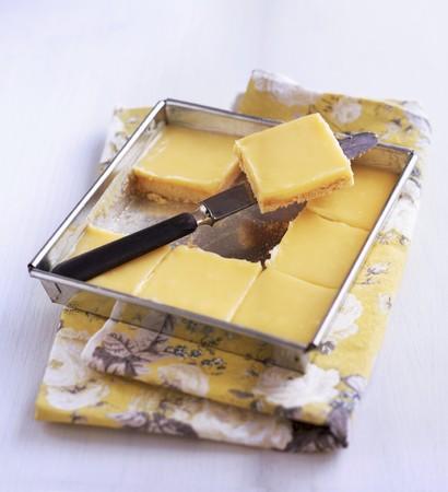 lemon slices: Fette di limone in una teglia LANG_EVOIMAGES