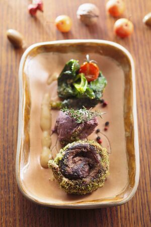 free dish: Venison with a side of vegetables LANG_EVOIMAGES