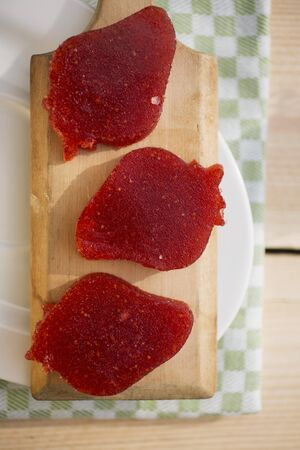 jellies: Strawberry-shaped strawberry jellies