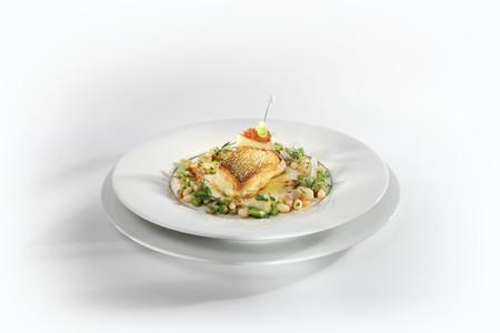 grayling: Grayling Souffl�d con vieiras servido con mantequilla especiada y frijoles